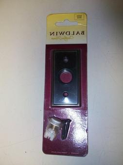 ~1~Baldwin~Doorbell Exterior Button~Venetian Bronze~NOS~Prem
