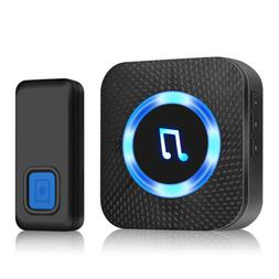 1000ft LED Wireless Doorbell Waterproof Remote US Plug smart