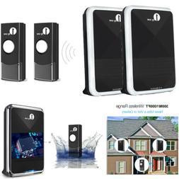 1byone 1300M Twin Wireless Doorbell Battery Operated DoorBel