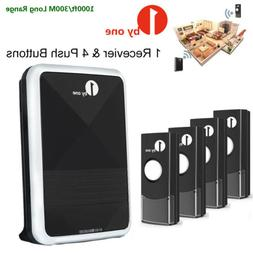1byone 1000ft Wireless Doorbell Battery Cordless Smart Easy