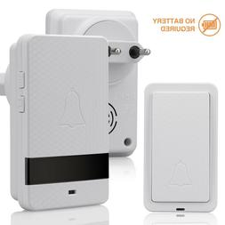 1000ft Wireless Doorbell Twin Wall Plug in Waterproof Cordle