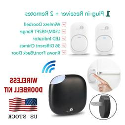 150m led 36 chimes wireless doorbell remote