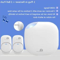 1Byone 150Miles Doorbell Wireless Door Bell Push Button Chim