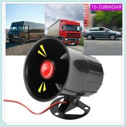 15W Wired Loud Horn 110dB Speaker for Car Van Truck Home Ala