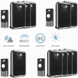 1byone wireless doorbell battery chime home ip44