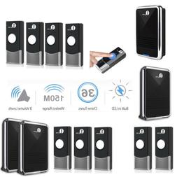 1byone wireless doorbell battery chime portable 150m range 3