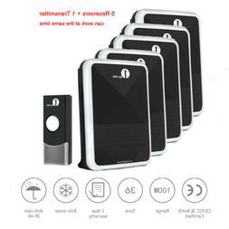 1Byone Wireless Doorbell Battery Operated Door Bell 2 Remote
