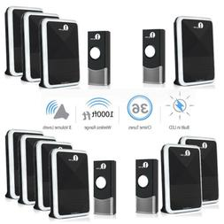 1byone Wireless Doorbell Waterproof  Door Bell 36 Melody Kit