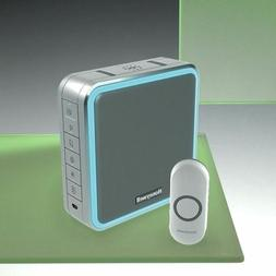 200m wireless portable doorbell kit silver recordable
