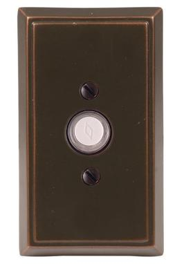 "Emtek 2403 4-3/8"" Height Rectangular Style Brass Lighted Doo"