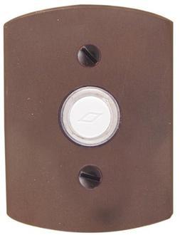 """Emtek 2424 4-1/2"""" Height #4 Style Bronze Lighted Doorbell Ro"""