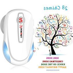 Wireless Doorbell Portable Waterproof - 110dB 4 Volume LED F