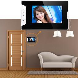 2pcs 7-inch Wired TFT Screen Monitor Video Doorphone Doorbel