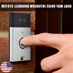 300m 2.4G Wireless Voice Intercom Doorbells LED Indoor Outdo