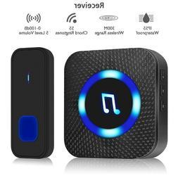 300M Range Wireless Door Bell Waterproof Battery Operated Lo