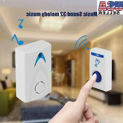 32 CHIME Wireless Door Bell Home Cordless Portable 100M Rang