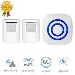 38 Chime PIR Motion Sensor Wireless Doorbell LED Driveway Al