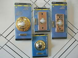 4~NEW SEALED CARLON SOLID BRASS WIRED LIGHTED PUSH BUTTON DO