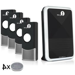 4 Remotes Wireless Doorbell Chime 36 Melody 328ft Battery Op