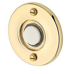 Baldwin 4851003 Round Bell Button, Lifetime Brass