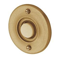Baldwin 4851033 Round Bell Button, Vintage Brass