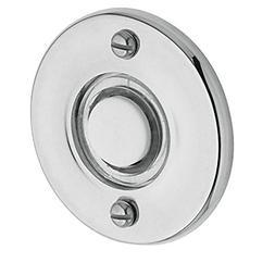 Baldwin 4851260 Round Bell Button, Bright Chrome