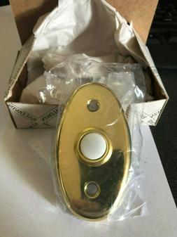 Baldwin 4858-030 Vintage Oval brass door bell ringer / butto