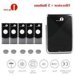 5 Remotes Wireless Doorbell Chime Battery Operated 36 Melody