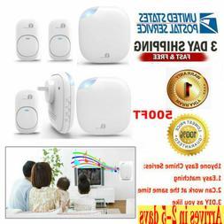 1byone 500ft Long Range Twin Wireless Doorbell 36 Chimes Kit
