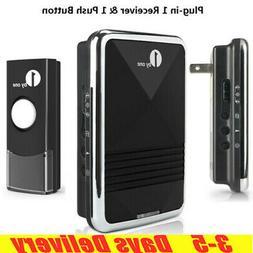 1byone 500ft Wireless Doorbell Digital Door Bell US Plug-in