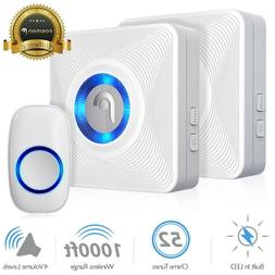 Fosmon 51002HOM Wireless Doorbell  - 1 Remote Button, 2 Plug