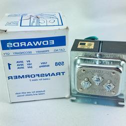 EDWARDS SIGNALING 598 Class 2 Transformer, 30VA @ 16/24VAC,