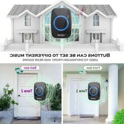 CACAZI 60 Chime 110DB Wireless Doorbell 300M Remote Waterpro