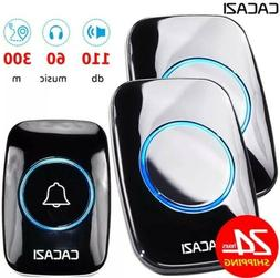 60 Chime CACAZI Wireless Doorbell 300m Long Range easy plug