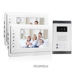 "7"" Apartment Video Door Phone System Intercom doorbell Camer"