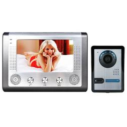 """7"""" LCD Video Door Phone Doorbell Intercom Kit 1-camera 1-mon"""
