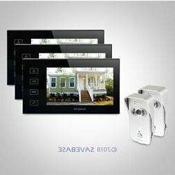 """HOMSECUR 7"""" Video&Audio Smart Doorbell with Black Monitor 2C"""