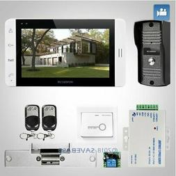"""HOMSECUR 7"""" Video&Audio Smart Doorbell with White Monitor fo"""