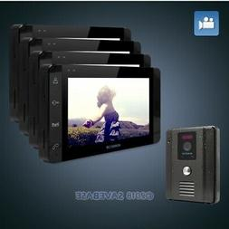 "HOMSECUR 7"" Video&Audio Smart Doorbell with Black Monitor fo"
