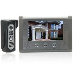 "7"" Wired Video Door Phone Doorbell Intercom Night Vision Cam"