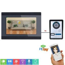 "7"" Wired Wifi Video Remote APP Doorbell Intercom with IR-CUT"