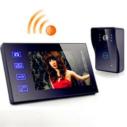 "New 7"" Wireless Video Door Phone Doorbell Intercom with Wate"