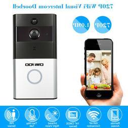 OWSOO 720P WiFi Doorbell Video Door Phone 2-Way Audio PIR+IR