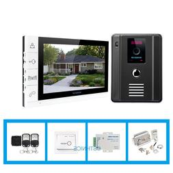 "HOMSECUR 9"" Video&Audio Smart Doorbell Electric Lock+Keys In"