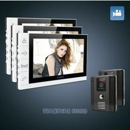"""HOMSECUR 9"""" Video&Audio Smart Doorbell with White Monitor fo"""