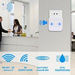 984ft Waterproof Home Security Wireless Door Bell for Hotel