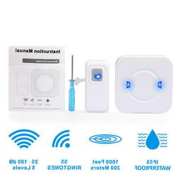 Door Bell w/ 55 Chimes Waterproof Wireless Doorbell Cordless