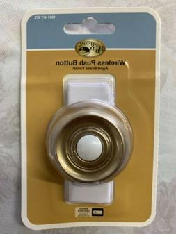 Aged Brass finished wireless doorbell button by Hampton Bay