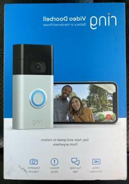 ALL-NEW RING VIDEO DOORBELL  1080P HD VIDEO SATIN NICKEL - B