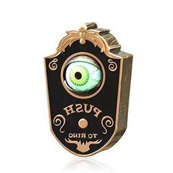 animated doorbell eyeball halloween decorations
